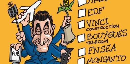 Sarkozy candidat à la présidence de... AREVA, EDF, VINCI, BOUYGUES, FNSEA, MONSA