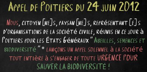 Appel de Poitiers pour sauver la biodiversité - 24 juin 2012