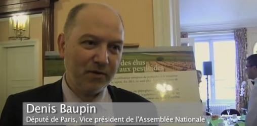 Denis Baupin. Député de Paris, Vice président de l'Assemblée Nationale.