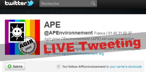 Live Tweeting - Agir pour l'Environnement