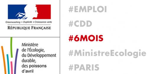 OFFRE D'EMPLOI - CDD - 6 mois - Ministère de l'écologie