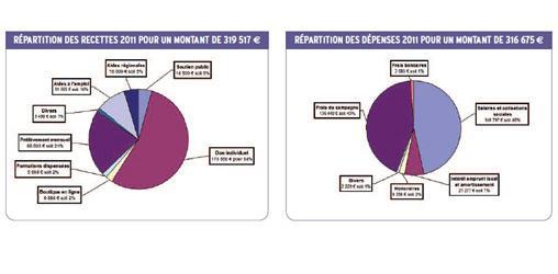 Dépenses recettes 2011 Agir pour l'Environnement