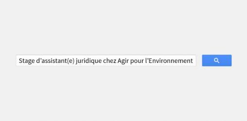 #Stage : Assistant(e) Juridique - Agir pour l'Environnement