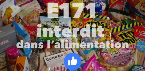 E171 interdit dans l'alimentation