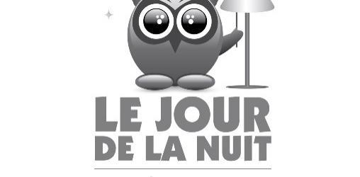 Logo blanc du Jour de la Nuit