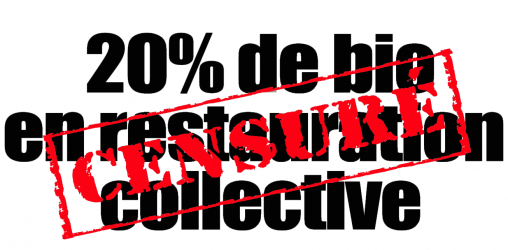 20% de bio en restauration collective... censuré !