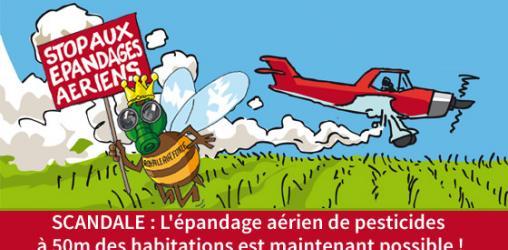 Stop aux épandages aériens de pesticides !!