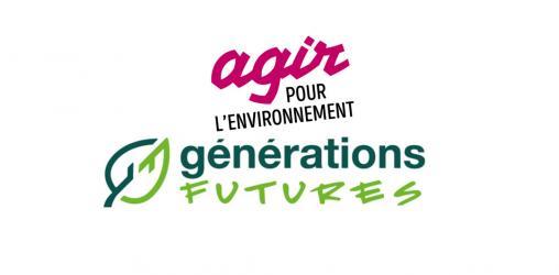 Logos d'Agir pour l'Environnement et Générations Futures cosignataires du CP