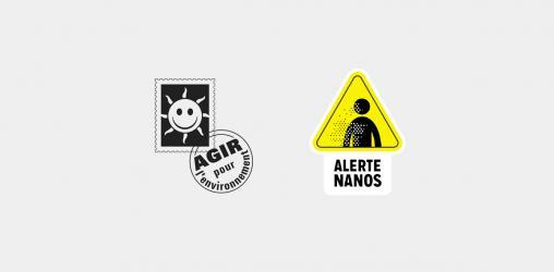 Logo Agir pour l'Environnement et campagne nanos