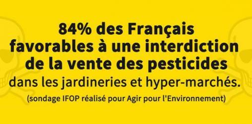 84% des Français pour une interdiction de la vente des pesticides