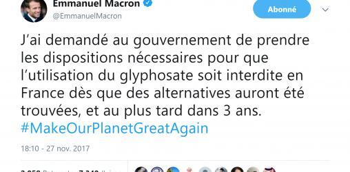 tweet_macron_glyphosate