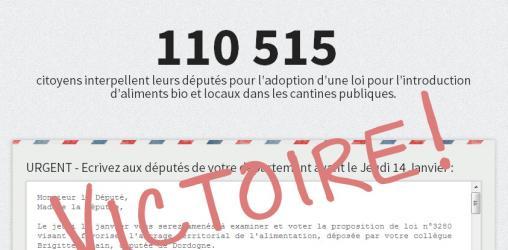 110 000 signatures - Manger bio et local dans les cantines, c'est possible !