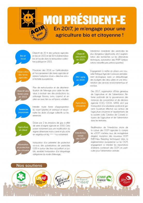 les dix mesures pour une transition agricole