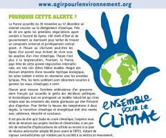 """Alerte n°24 """"Pour une règle d'or climatique"""""""