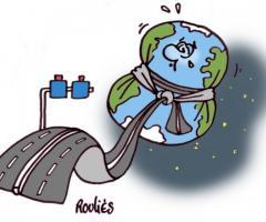 La planète ceinturée par des autoroutes