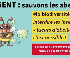 PÉTITION - Interdire les insecticides tueurs d'abeilles, c'est possible !