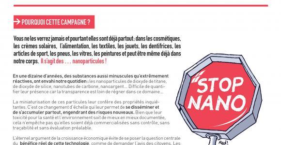 """Campagne """"Stop aux nanos !"""""""