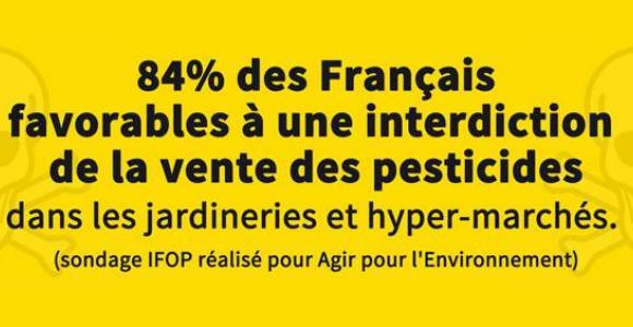 84% des Français favorables à une interdiction de la vente des pesticides