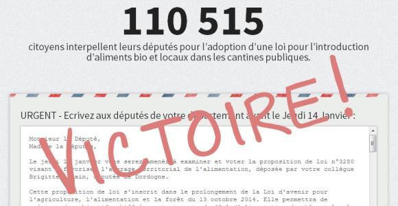 Victoire ! - 110000 signatures et un vote unanime à l'assemblée.