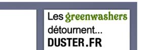 Duster.fr, le site du 4x4 Renault-Dacia, détourné par les GREENWASHERS !